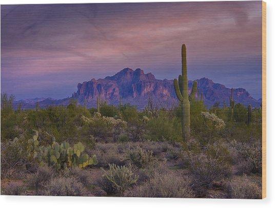 A Beautiful Desert Evening  Wood Print