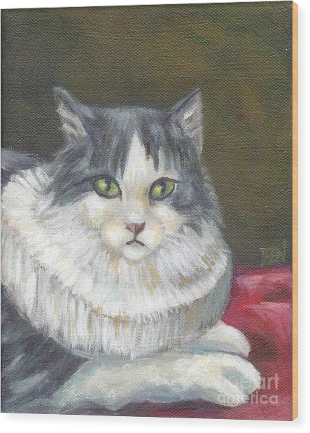 A Cat Of Peter Paul Rubens Style Wood Print