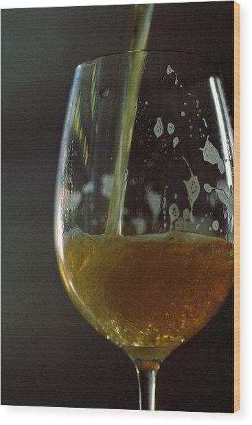 A Glass Of Beer Wood Print