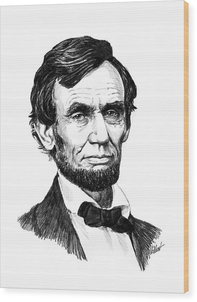 A. Lincoln Wood Print