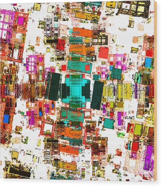 Abstract Geometric Art Wood Print