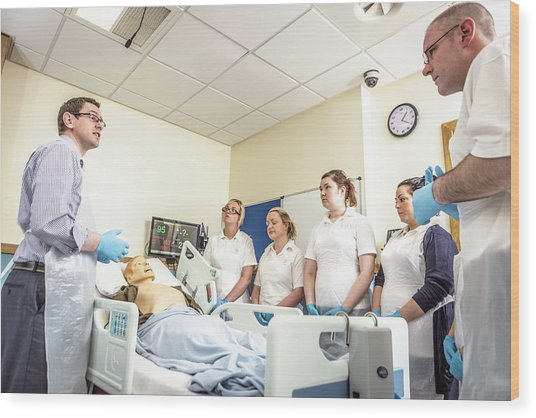 Acute Care And Resuscitation Training Wood Print by Gustoimages