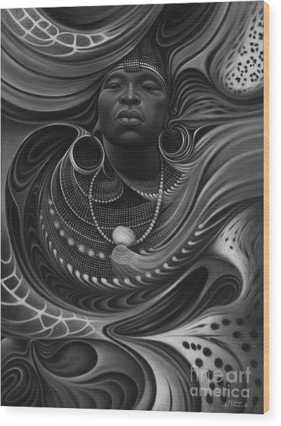 African Spirits I Wood Print