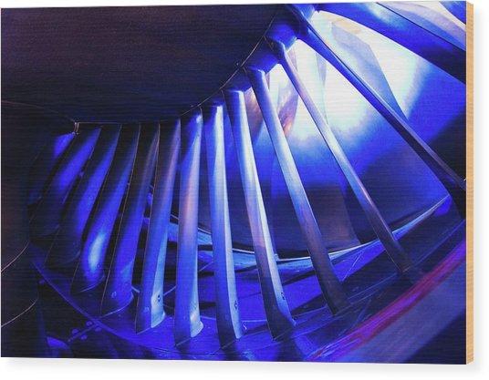 Aircraft Engine Fan Blades. Wood Print by Mark Williamson