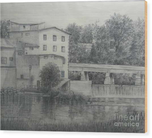 Almonte Heritage Buildings Wood Print