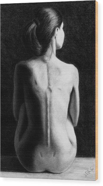 Ana In Waiting  Wood Print