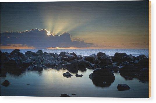 Aqua Marine Wood Print