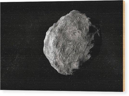 Asteroid, Artwork Wood Print by Andrzej Wojcicki