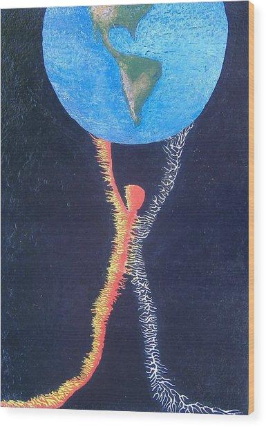 Atlas Wood Print