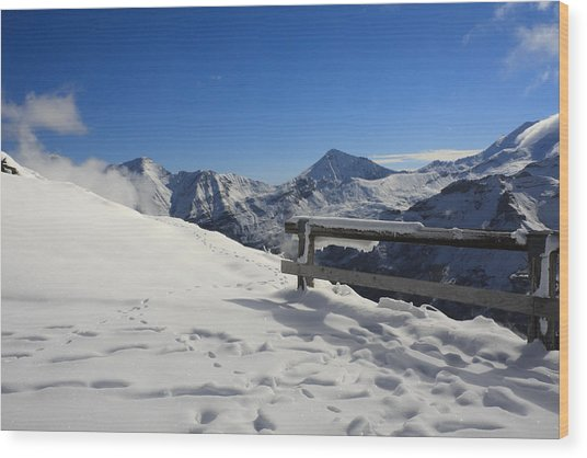 Austrian Mountains Wood Print