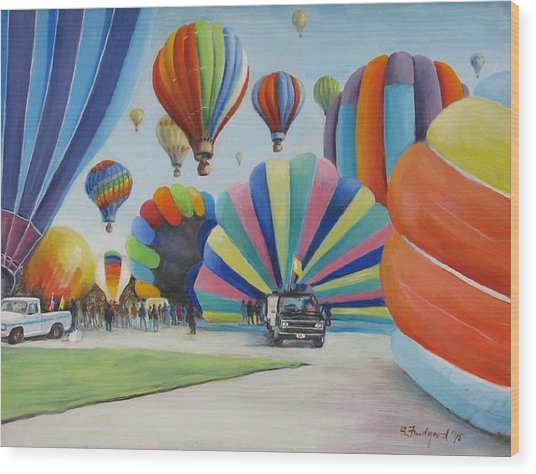 Balloon Fest Wood Print
