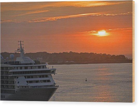 Bar Harbor Maine Sunrise  Wood Print