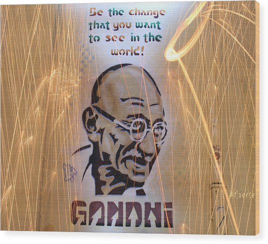 Be The Change  Wood Print