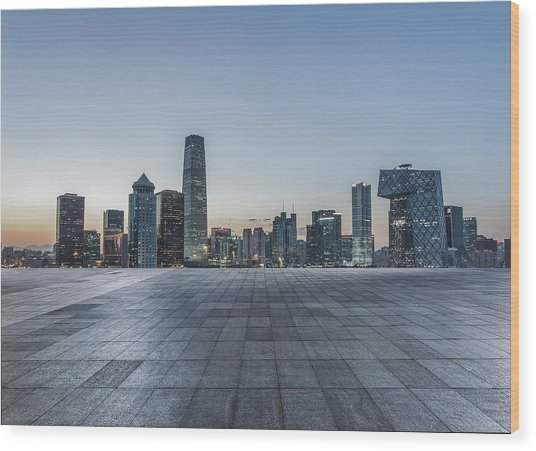 Beijing City Square Wood Print by DuKai photographer