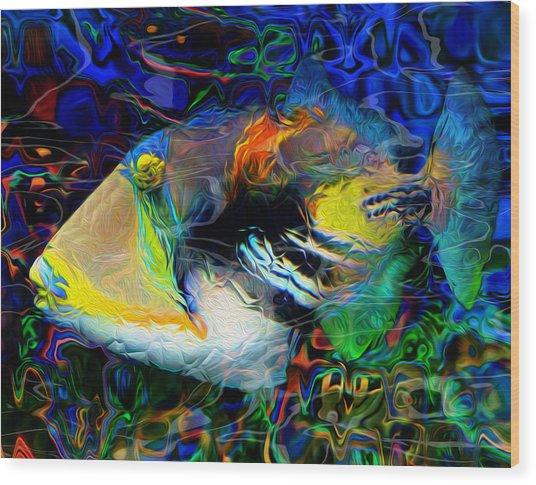 Below The Surface 4 Wood Print