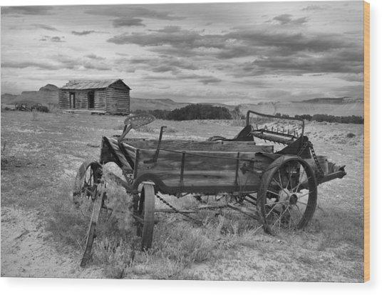 Bighorn Basin History Wood Print by Leland D Howard