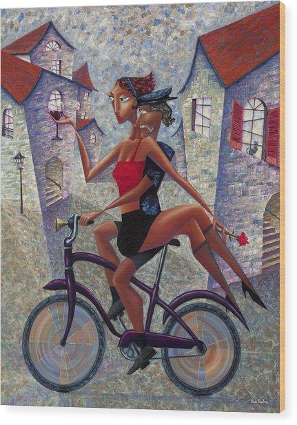 Bike Life Wood Print