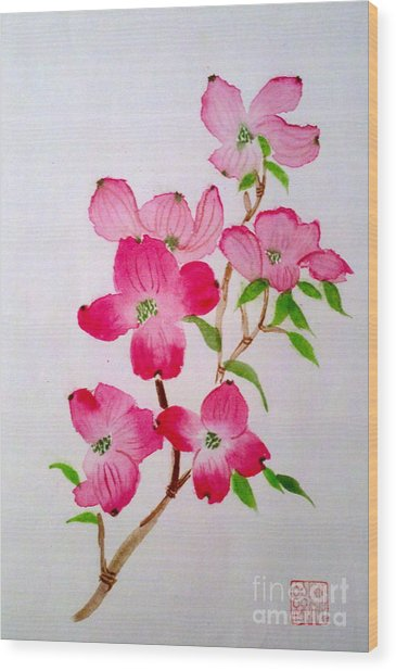 Blooming Dogwood Wood Print