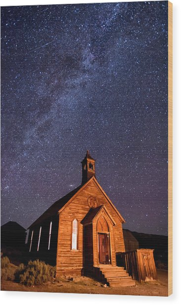 Bodie Church Wood Print