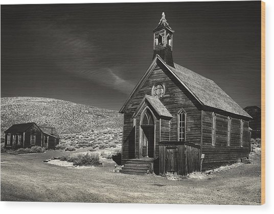 Bodie Church Wood Print by Robert Fawcett