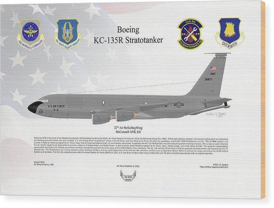 Boeing Kc-135r Stratotanker Wood Print by Arthur Eggers