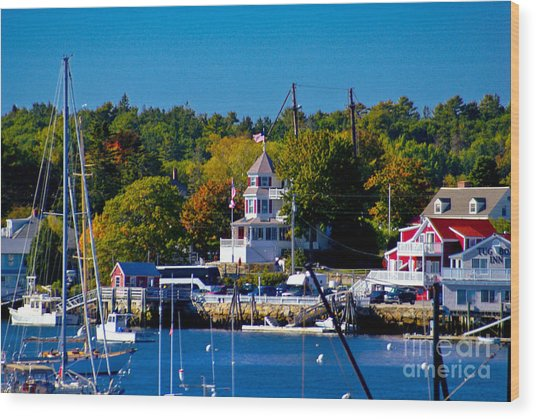 Boothbay Harbor Maine. Wood Print