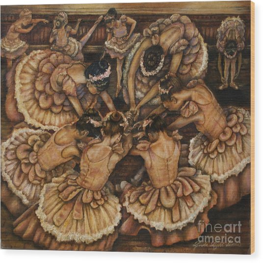 Bouquet Of Ballet    Wood Print