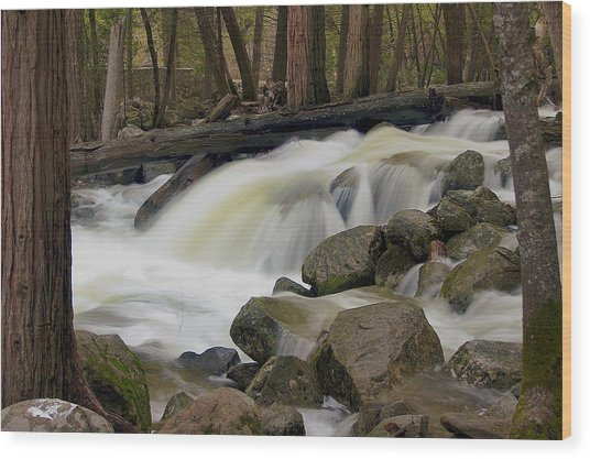 Bridalveil Creek Wood Print