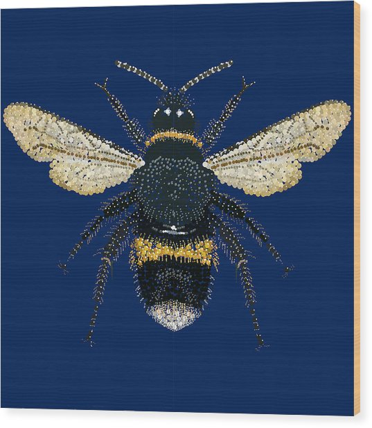 Bumblebee Bedazzled Wood Print