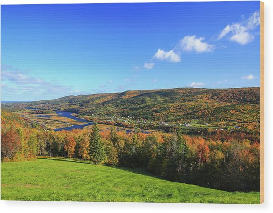 Canada, Nova Scotia, Cape Breton, Cabot Wood Print by Patrick J. Wall