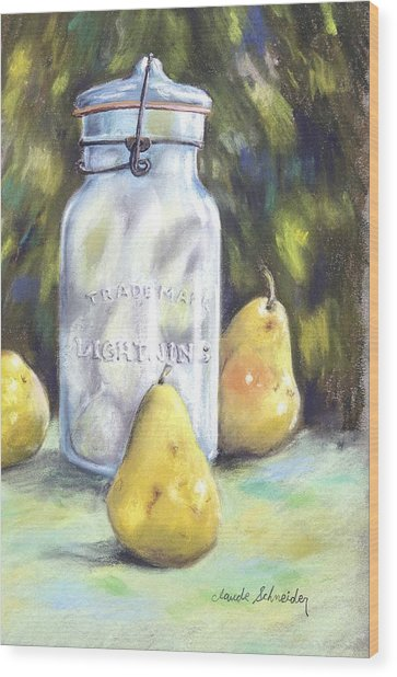 Canned Pears  Wood Print
