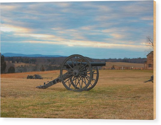 Cannons Of Manassas Battlefield Wood Print