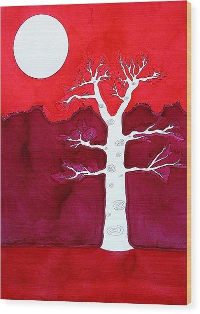 Canyon Tree Original Painting Wood Print