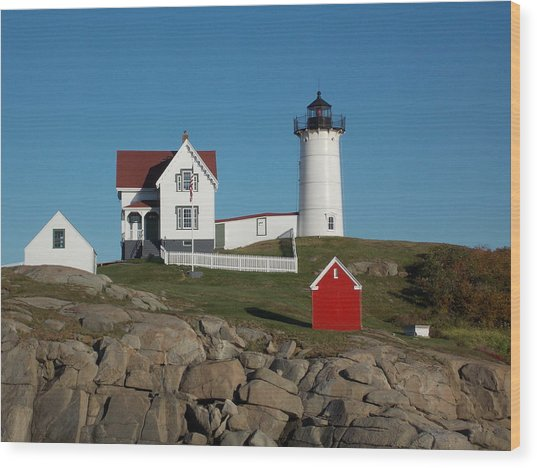 Cape Neddick Wood Print
