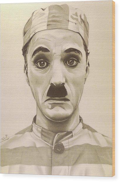 Vintage Charlie Chaplin Wood Print