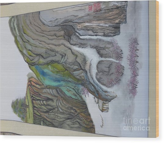 Chinese Landscape Painting Wood Print