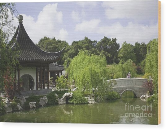 Chinese Water Garden Wood Print