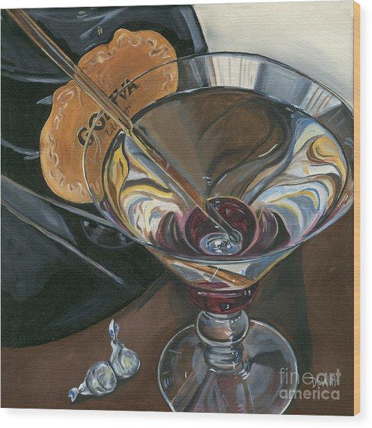 Chocolate Martini Wood Print