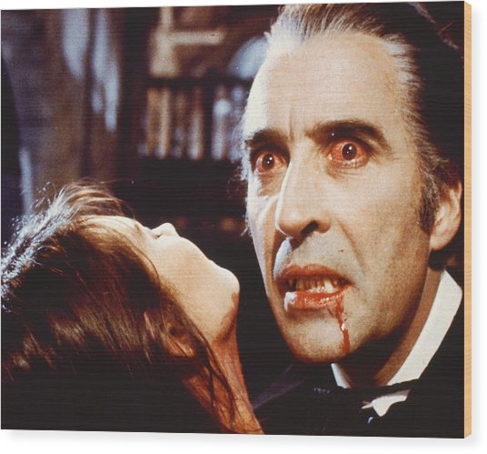 Christopher Lee In Dracula A.d. 1972  Wood Print