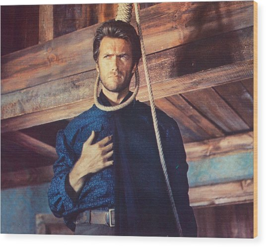 Clint Eastwood In Il Buono, Il Brutto, Il Cattivo Wood Print