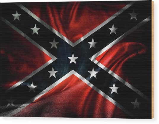 Confederate Flag 1 Wood Print