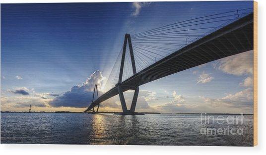 Cooper River Bridge Charleston Sc Wood Print