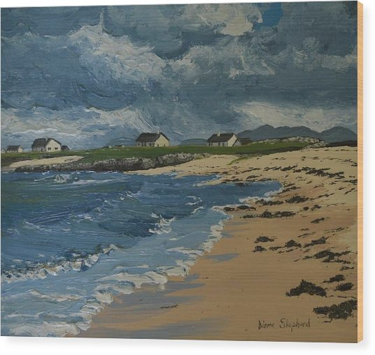 Coral Strand Connemara Ireland Wood Print