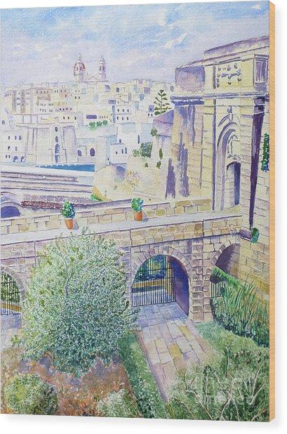 Couvre Port Birgu Malta Wood Print