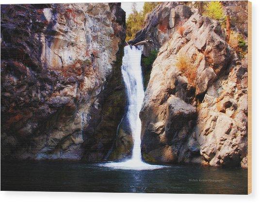 Crow Creek Falls Wood Print
