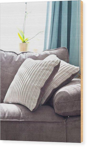 Cushions Wood Print