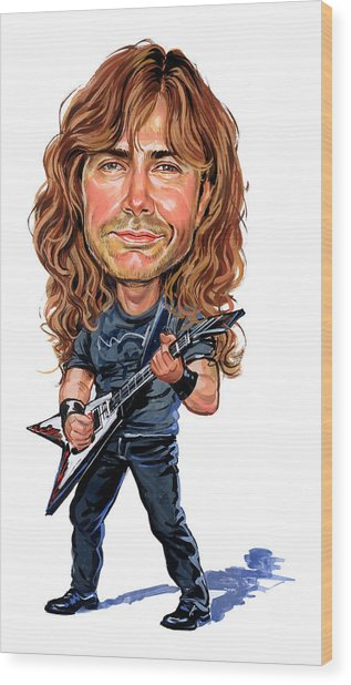 Dave Mustaine Wood Print by Art
