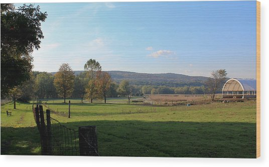 Deerfield Countryside Wood Print by DustyFootPhotography