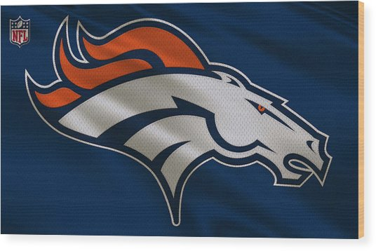 Denver Broncos Uniform Wood Print