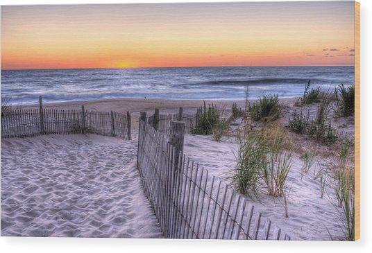 Dewey Beach Sunrise Wood Print